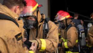 traje de bombero